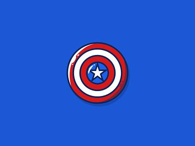 Captain America's shield avengers america shield captain digital art illustrator illustration vector icon graphic design
