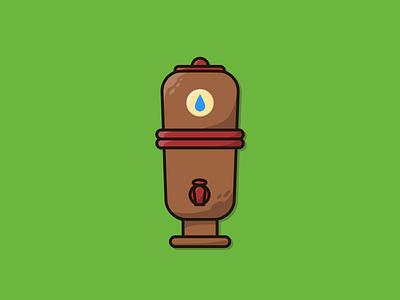 Filtro de Barro - Brazilian Clay Water Filter graphics adobe adobe illustrator vetor digital vector brazillian nacional brasileiro brasil brazil filtro filtro de barro brazilian clay water filter digital art illustrator design illustration icon vector graphic design