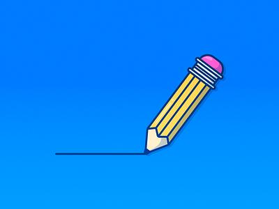 Pencil Icon vector icon drawing draw pen school study pencil graphic adobe vector art digital art illustrator design graphic design illustration vector icon