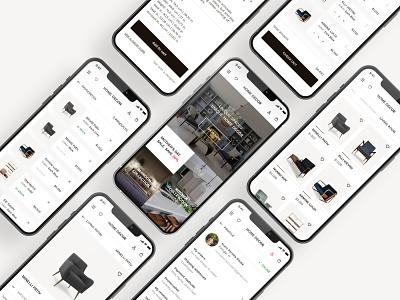 Home Decor Online Shop design uiux mobile apps ui design ui mobile design mobile app minimal interface design interface