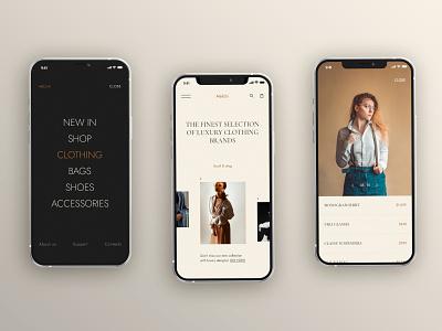 Melchi - Luxury Clothing Brand ux design ui ux ux ui design design ui mobile design mobile apps mobile app minimal interface design interface