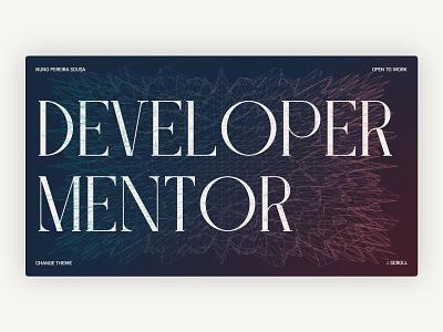 NunoPS Portfolio 2021 🚀 website design website interface website web development ui minimal interface design design portfolio desktop design interface web