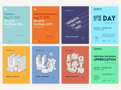 NunoPS Portfolio 2021 - awards graphic design branding design minimal ux ui illustration poster front-end website portfolio awards