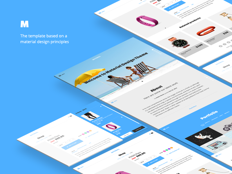 Material Design Template By Andre Revin On Dribbble