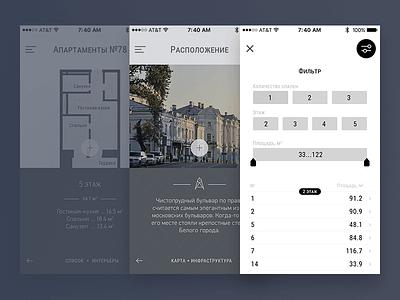 Mobile First Website Design filter interaction interface mobile human-centered design