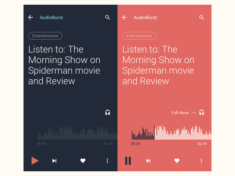Audioburst Mobile Audio Player