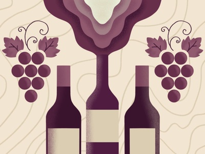 Wine Poster branding illustration web design winew fest wine bottle wine winery