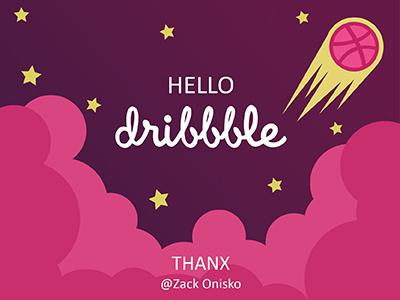 Hello Dribbble! stars hello cloud comet space dribbble debuts