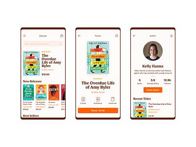 BookStore App Concept bookshop bookstore mobile app app ui ui
