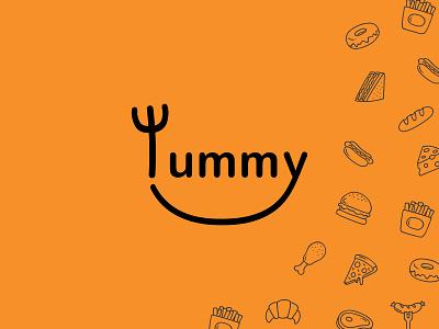 Restaurant logo app illustrator graphic design flat art typography minimal illustration branding icon logo