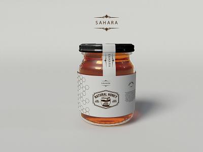 Honey label design illustrator typography logo illustration icon vector design graphic design minimal branding