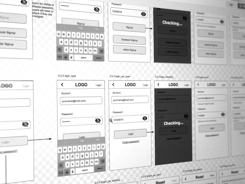 Wireframe in Google drawing google share ux wireframe