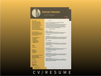 CV/RESUME vector logo illustration branding ux graphic design art ui design app