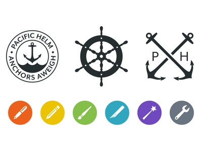 Pacific Helm Symbols & Service Marks pacific helm logo symbol mark icon pacific helm