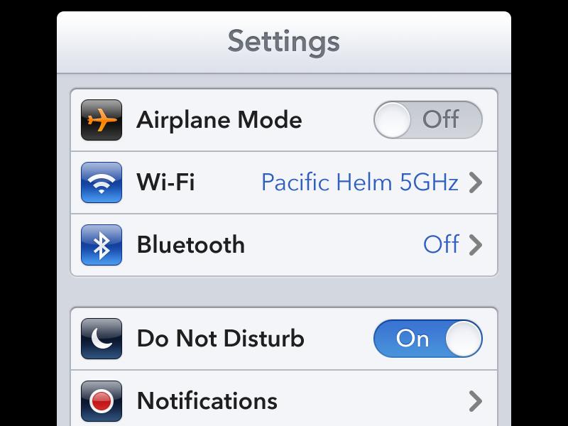 Settings settings ios toggle table cell icon app chevron avenir