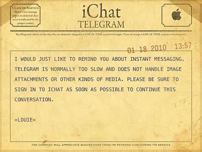 iChat Telegram ichat telegram yellow