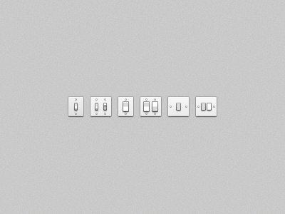 Light Switches (PSD) light switch switches psd free icon toolbar icons