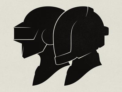 Daft Punk Silhouette Portraits daft punk silhouette portrait daft punk