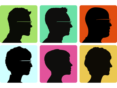 Friend Silhouette Portraits silhouette cameo portrait