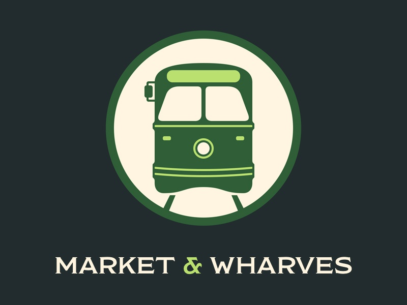 Ⓕ Market & Wharves streetcar trolley market wharves san francisco f line
