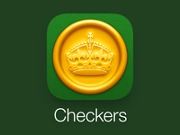 Checkers App Icon for iOS 7