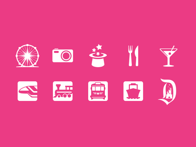 Disneyland In-App Icons