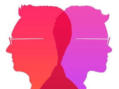 Nick Paulson & Taylor Carrigan portrait silhouette cameo venn itunes apple music