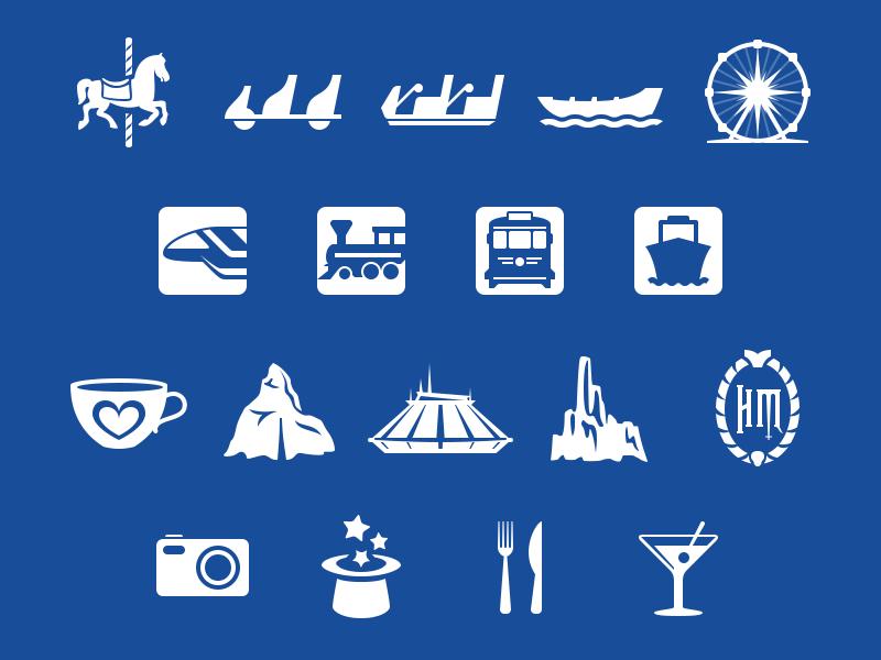 magic passport in-app icons by louie mantia