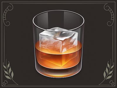 Whiskey App Icon app icon osx whiskey alcohol glass ice