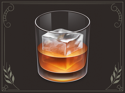 Whiskey App Icon app icon osx whiskey alcohol glass ice