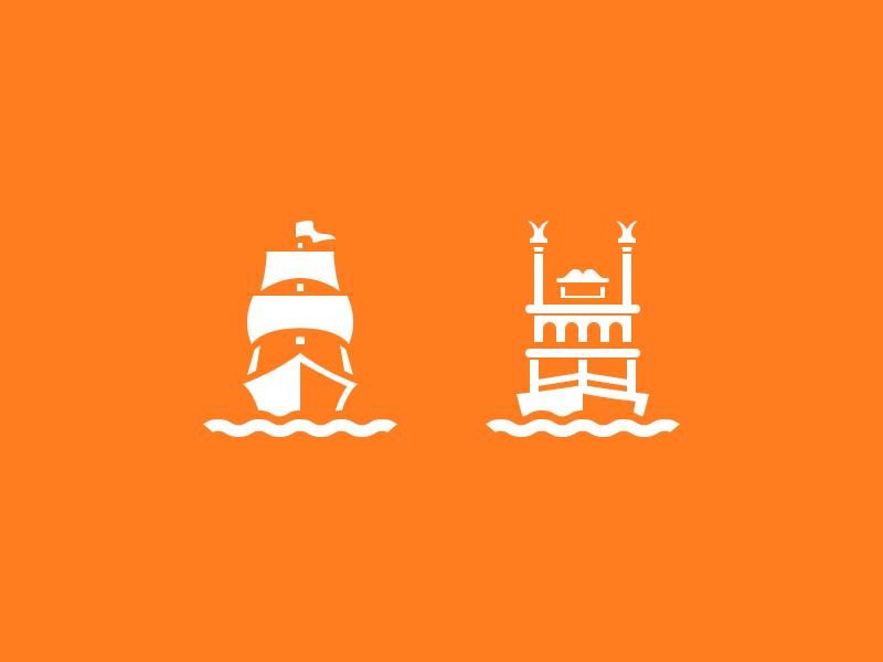 Magic Passport: Rivers of America disneyland app icons columbia riverboat ship boat mark twain