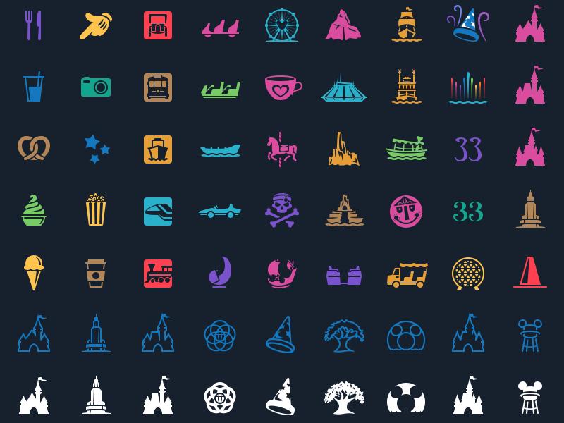 magic passport  attraction  u0026 park icons by louie mantia