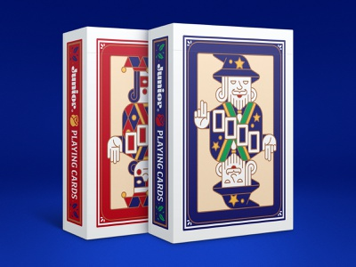 Junior Playing Cards: Mage & Fool junior cards king queen jack jester wizard fool mage playing cards
