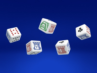 Junior Royals Poker Dice club spade diamond jack queen king dice cards