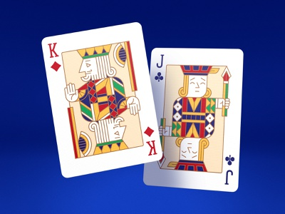 Junior Playing Cards (King of Diamonds with Jack of Clubs) club diamond playing cards jack queen king cards junior