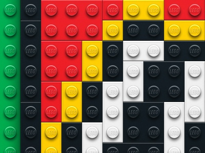 Lego Bricks lego green red yellow black white bricks