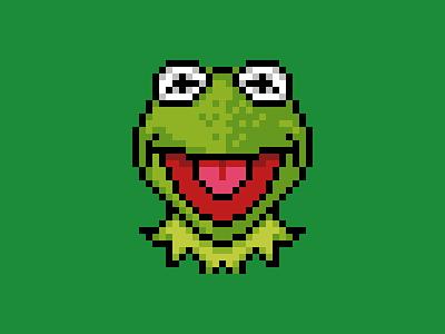 Kermit icon disney muppets pixel 32 kermit jim henson