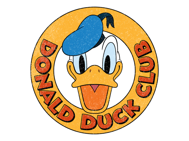 donald duck club by louie mantia dribbble