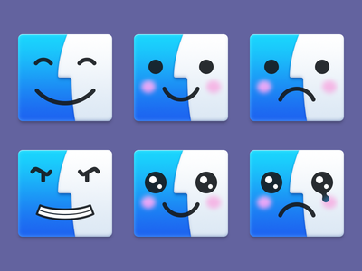 Finders finder yosemite mac icon kaomoji cute kawaii mighty finder