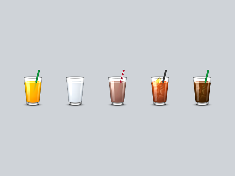 Drinks Emoji by Louie Mantia for Parakeet on Dribbble