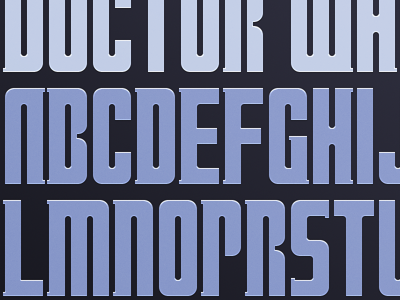 doctors letter doctor who font by louie mantia dribbble 10588