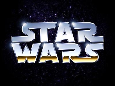 star wars chrome logo by louie mantia dribbble dribbble
