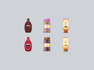 Ice Cream Fixins Emoji emoji sprinkles caramel butterscotch chocolate strawberry syrup ice cream