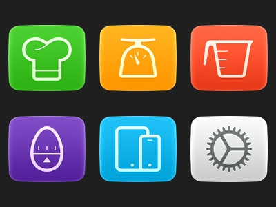 June Apps cooking icons oven june