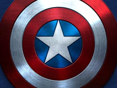 Captain America captain america stars stripes red white blue metal shield