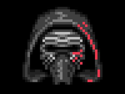 Kylo Ren Pixel Art star wars pixel kylo ren icon