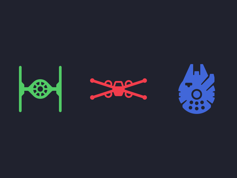 Star Wars Ship Icons By Louie Mantia Dribbble