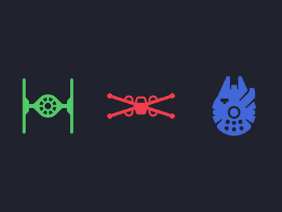 star wars ship icons by louie mantia dribbble. Black Bedroom Furniture Sets. Home Design Ideas