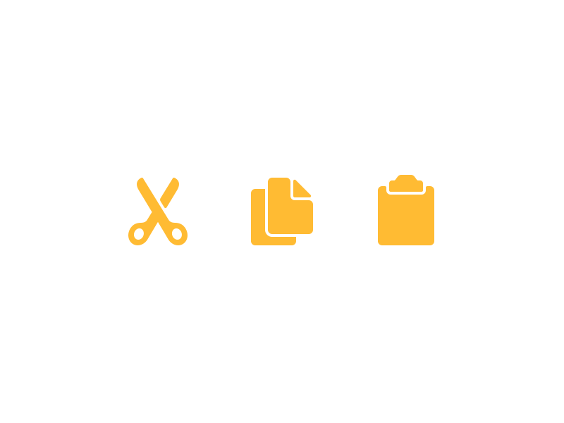 Cut Copy And Paste Stock Icons By Louie Mantia Dribbble