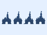 Disney Castle Icons